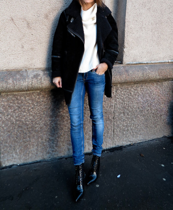 skinny jeans layers